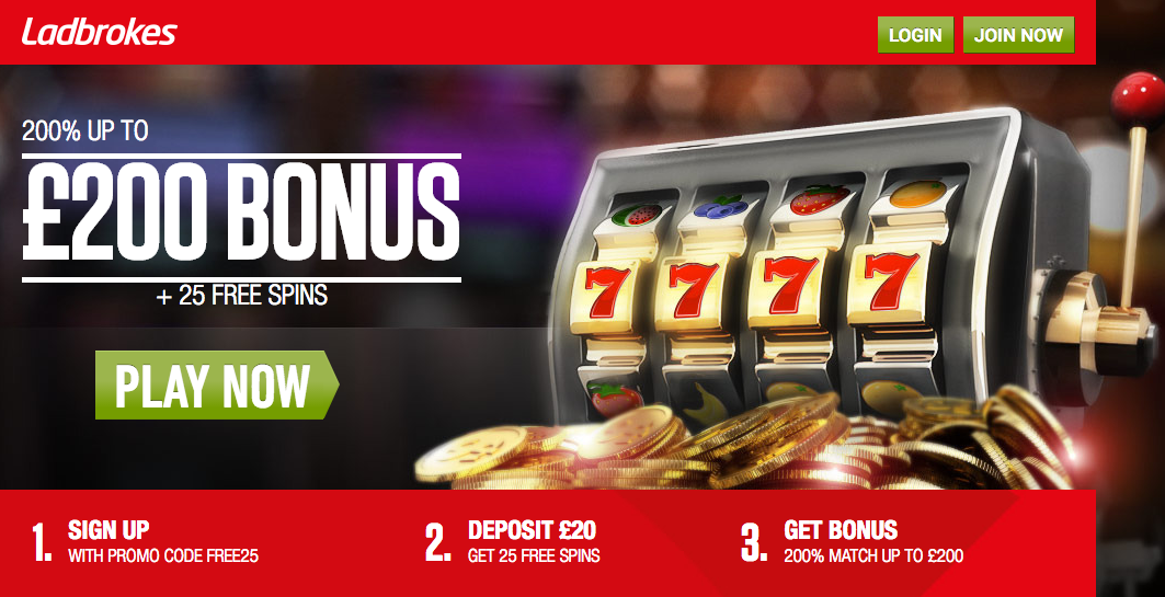 Casino.ladbrokes.com/25free